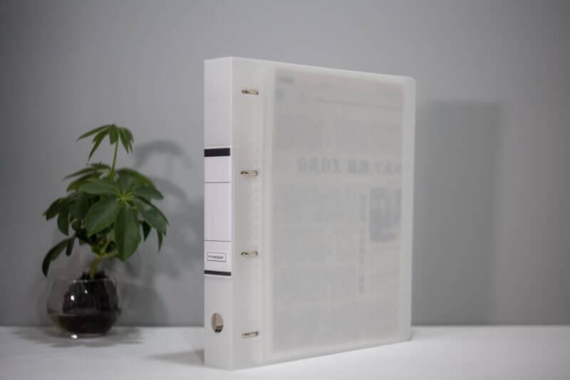 アスクル「リングファイル A4タテD型4穴背幅41mm」&モノイレリフィルシリーズ